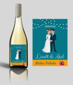 Festino esküvői címke
