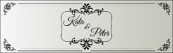Silverlight esküvői nyak címke